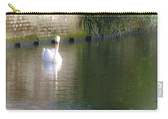 Carry-all Pouch featuring the photograph Swan In The Canal by Victoria Harrington