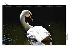 Carry-all Pouch featuring the photograph Swan Lake by Deena Stoddard