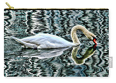 Swan On Lake Eola By Diana Sainz Carry-all Pouch