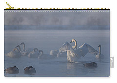 Carry-all Pouch featuring the photograph Swan Showing Off by Patti Deters