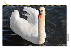 Swan With A Golden Neck Carry-all Pouch by Susan Wiedmann