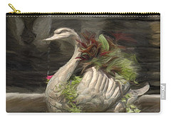 Swan With Beautiful Flowers Carry-all Pouch