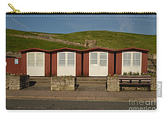 Swanage Beach Huts Carry-all Pouch by Linsey Williams