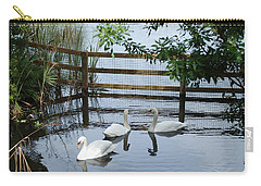 Swans In The Pond Carry-all Pouch