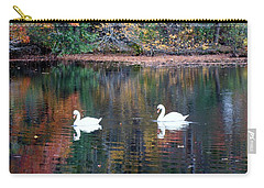 Carry-all Pouch featuring the photograph Swans by Karen Silvestri