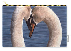 Swans Painting Carry-all Pouch by Rachel Stribbling