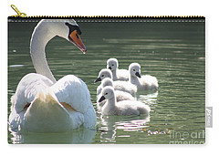 Carry-all Pouch featuring the photograph Swans  by Rogerio Mariani