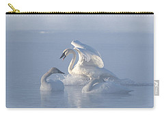 Carry-all Pouch featuring the photograph Trumpeter Swans - Three's Company by Patti Deters