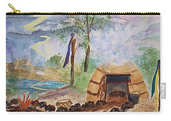 Sweat Lodge Carry-all Pouch by Ellen Levinson