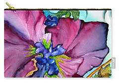 Sweet And Wild In Turquoise And Pink Carry-all Pouch by Lil Taylor