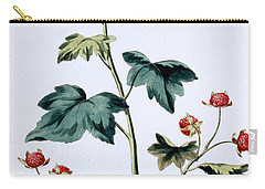 Sweet Canada Raspberry Carry-all Pouch by John Edwards