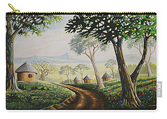Carry-all Pouch featuring the painting Sweet Home by Anthony Mwangi
