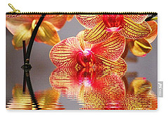 Sweet Orchid Reflection Carry-all Pouch by Judy Palkimas