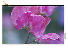 Sweet Pea In Pink Carry-all Pouch