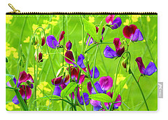 Carry-all Pouch featuring the photograph Sweet Peas by Byron Varvarigos