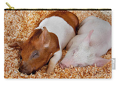 Sweet Piglets Nap Art Prints Carry-all Pouch