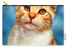 Sweet William Orange Tabby Cat Painting Carry-all Pouch