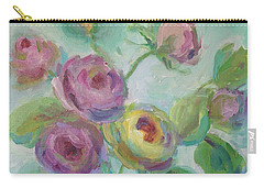 Carry-all Pouch featuring the painting Sweetness Floral Painting by Mary Wolf