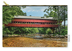 Carry-all Pouch featuring the photograph Swift River Covered Bridge Hew Hampshire by Debbie Green