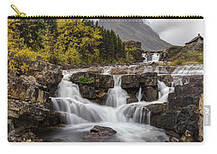 Swiftcurrent Falls In Autumn Carry-all Pouch