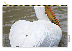 Carry-all Pouch featuring the photograph Swimming Away by Alyce Taylor