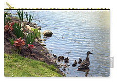 Carry-all Pouch featuring the photograph Swimming Lessons by Cathy Shiflett