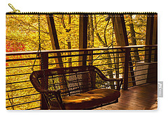 Swinging In Autumn Trees Original Photograph Carry-all Pouch