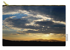 Carry-all Pouch featuring the photograph Swirl Sky Landscape by Matt Harang