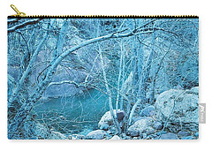 Sycamores And River Carry-all Pouch by Kerri Mortenson