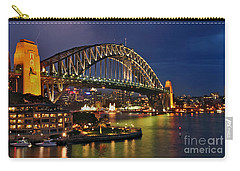 Sydney Harbour Bridge By Night Carry-all Pouch by Kaye Menner