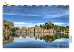 Carry-all Pouch featuring the photograph Sylvan Lake Reflections by Mel Steinhauer