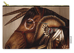 Carry-all Pouch featuring the painting Symbionts by Pat Erickson