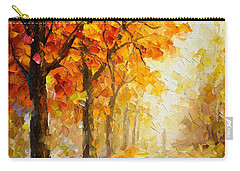 Symbols Of Autumn - Palette Knife Oil Painting On Canvas By Leonid Afremov Carry-all Pouch