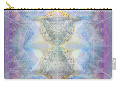 Synthecentered Doublestar Chalice In Blueaurayed Multivortexes On Tapestry Lg Carry-all Pouch