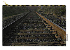 Carry-all Pouch featuring the photograph T Rails by Janice Westerberg