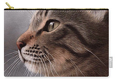 Tabby Cat Painting Carry-all Pouch by Rachel Stribbling
