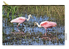 Carry-all Pouch featuring the photograph Table For Two by Carol  Bradley