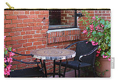 Carry-all Pouch featuring the photograph Table For Two by Cynthia Guinn