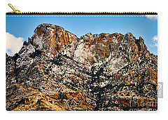 Carry-all Pouch featuring the photograph Table Mountain In Winter 42 by Mark Myhaver