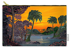 Tahitian Sunset Carry-all Pouch by Glenn Holbrook