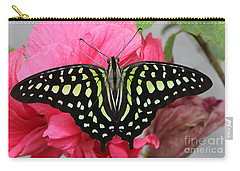 Carry-all Pouch featuring the photograph Tailed Jay Butterfly #6 by Judy Whitton