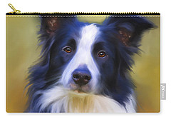Beautiful Border Collie Portrait Carry-all Pouch