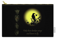 Take These Broken Wings And Learn To Fly Carry-all Pouch by David Dehner