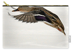 Carry-all Pouch featuring the photograph Taking Off by John Telfer