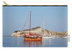 Carry-all Pouch featuring the photograph Tall Ship by George Katechis