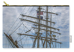 Carry-all Pouch featuring the photograph Tall Ship Gunilla Vertical by Dale Powell