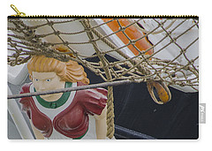 Carry-all Pouch featuring the photograph Tall Ship Gunilla Masthead by Dale Powell