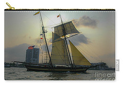 Carry-all Pouch featuring the photograph Tall Ship In Charleston by Dale Powell