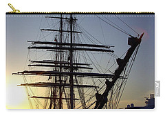 Tall Ship In Ibiza Town Carry-all Pouch