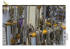 Carry-all Pouch featuring the photograph Tall Ship Lines by Dale Powell